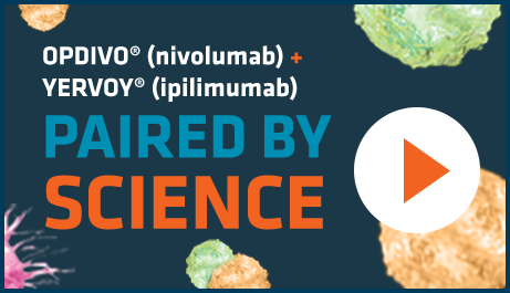 Watch how OPDIVO® (nivolumab) + YERVOY® (ipilimumab) work together to harness the body's immune system.